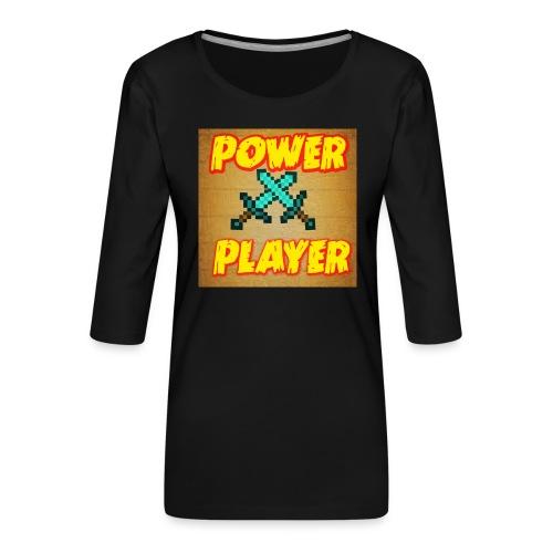 NUOVA LINEA POWER PLAYER - Maglietta da donna premium con manica a 3/4