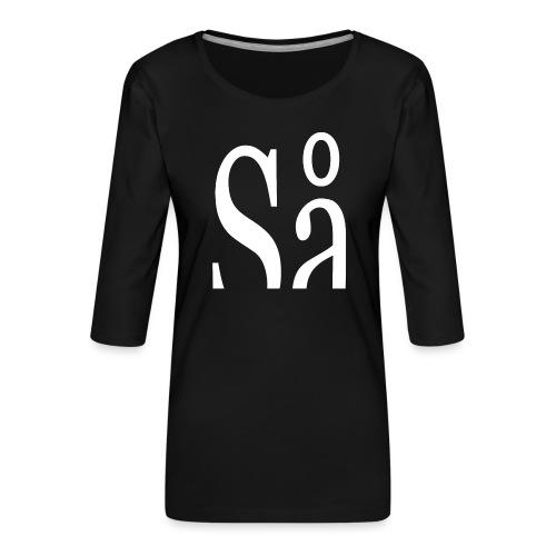 Så - Dame Premium shirt med 3/4-ærmer