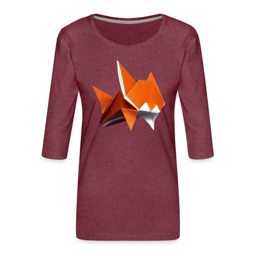 Jumping Cat Origami - Cat - Gato - Katze - Gatto - Women's Premium 3/4-Sleeve T-Shirt