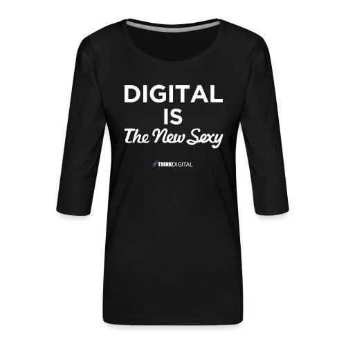 Digital is the New Sexy - Maglietta da donna premium con manica a 3/4