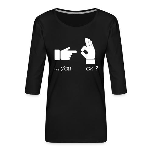 êtes-vous d'accord? (Fun Sex) - T-shirt Premium manches 3/4 Femme