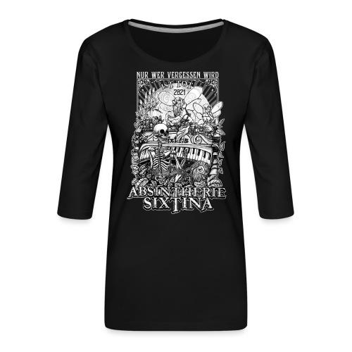 Absintherie Sixtina 2021 - Sixtina Support - Frauen Premium 3/4-Arm Shirt