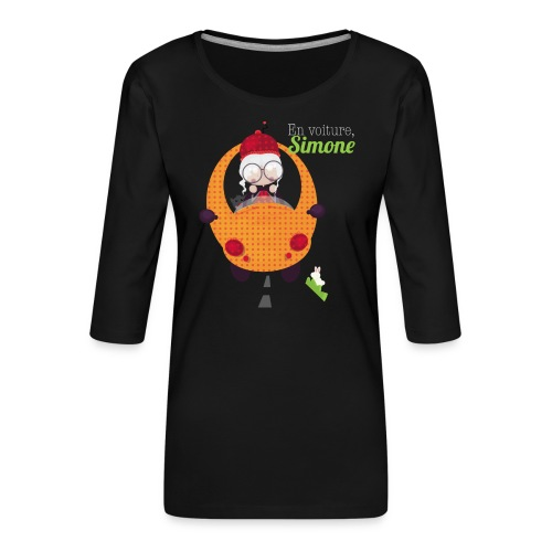 AUTOSIMONE - T-shirt Premium manches 3/4 Femme