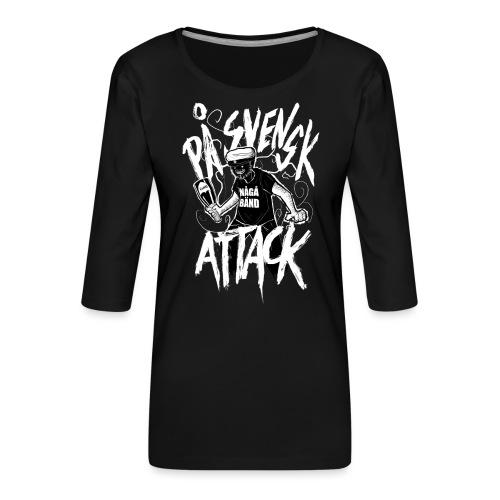 På Svenska Tack - Women's Premium 3/4-Sleeve T-Shirt