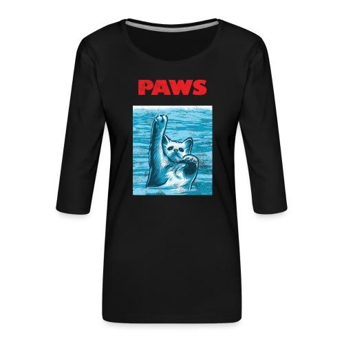 Katzen Paws Horror Film Parodie - Frauen Premium 3/4-Arm Shirt