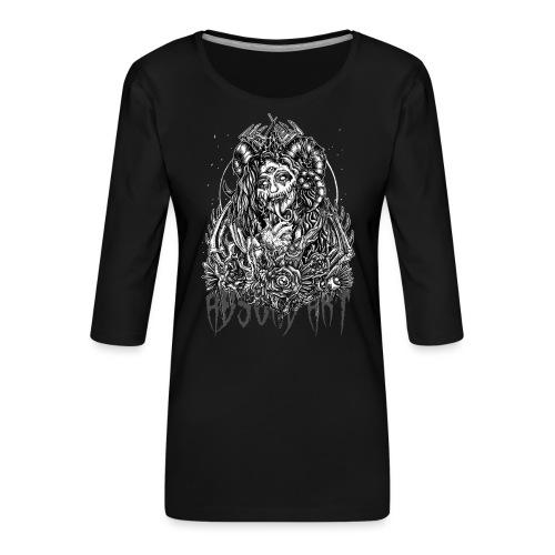 Murderous Beauty, Black'n White, Absurd Art - Frauen Premium 3/4-Arm Shirt