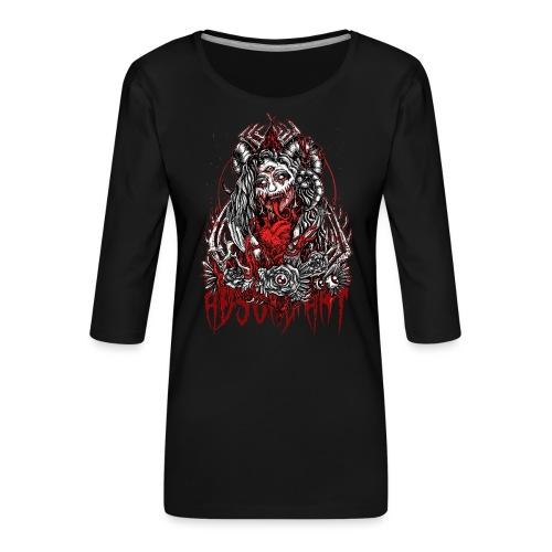 Murderous Beauty Absurd Art - Frauen Premium 3/4-Arm Shirt