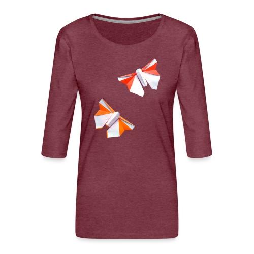 Butterflies Origami - Butterflies - Mariposas - Women's Premium 3/4-Sleeve T-Shirt