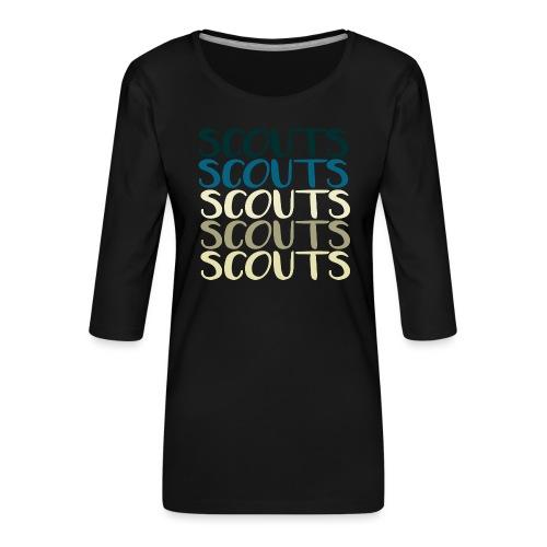 SCOUTS Typo Strandmix - Frauen Premium 3/4-Arm Shirt