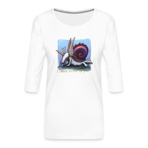 Unichiocciolo - Maglietta da donna premium con manica a 3/4