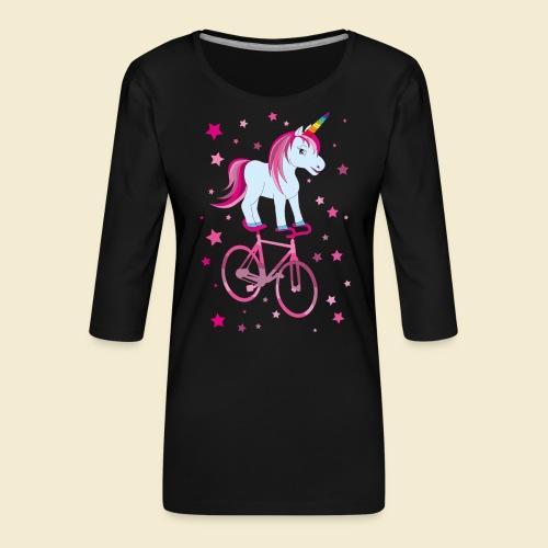 Kunstrad | Einhorn Pink - Frauen Premium 3/4-Arm Shirt