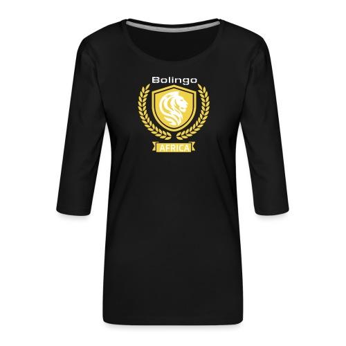 bolingo jaune - T-shirt Premium manches 3/4 Femme