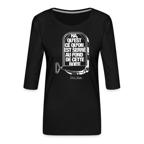 Les Sardines - T-shirt Premium manches 3/4 Femme