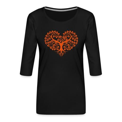 Herzbaum Lebensbaum Naturmotiv Baum des Lebens - Frauen Premium 3/4-Arm Shirt