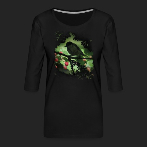 Petit oiseau dans la forêt - T-shirt Premium manches 3/4 Femme