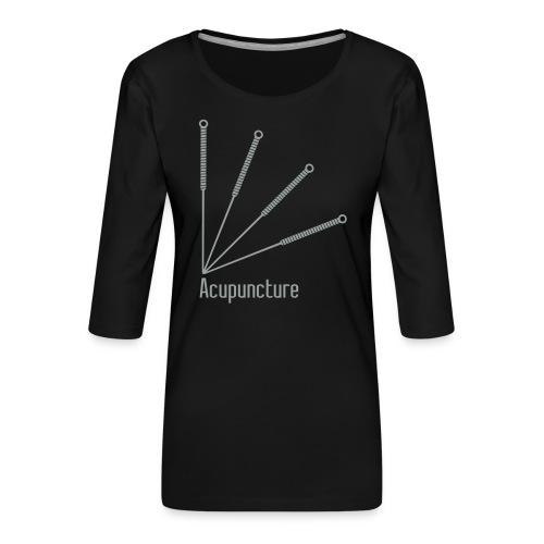Acupuncture Eventail vect - T-shirt Premium manches 3/4 Femme