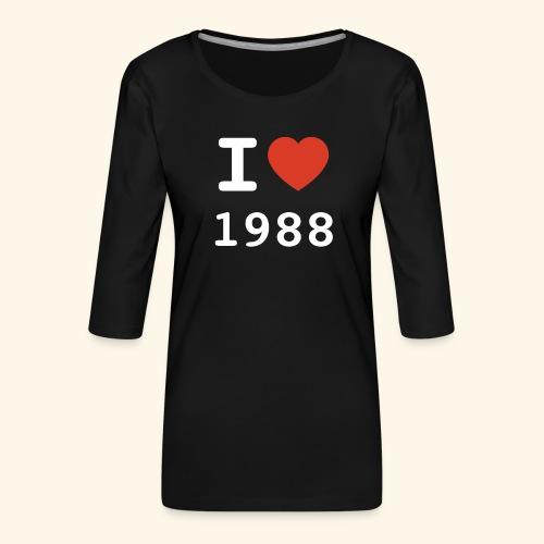 I Love 88 w p 001 - Frauen Premium 3/4-Arm Shirt