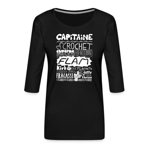 capitaine-blanc Tee shirts - T-shirt Premium manches 3/4 Femme