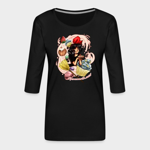 Geneworld - Kiki - T-shirt Premium manches 3/4 Femme