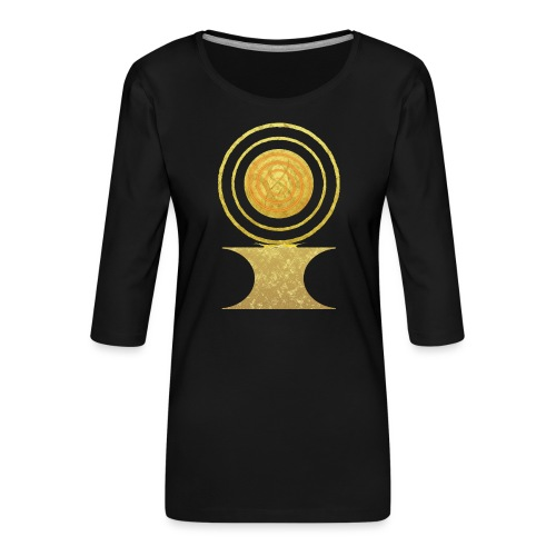 Native America Indianer Symbol Hopi ssl Sonne - Frauen Premium 3/4-Arm Shirt