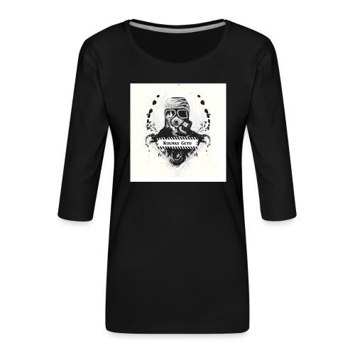 KOLMAS GETO LOGO VALMIS ISO RESOLUUTIO - Naisten premium 3/4-hihainen paita
