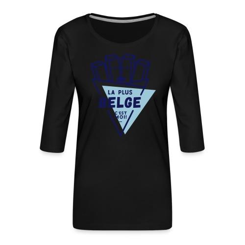 La+Belge - T-shirt Premium manches 3/4 Femme