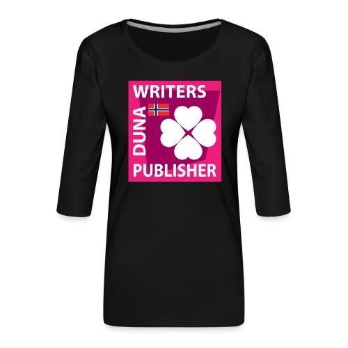 Duna Writers Publisher Pink - Premium T-skjorte med 3/4 erme for kvinner
