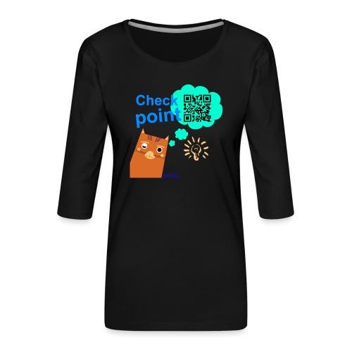 Duna Checkpoint - Premium T-skjorte med 3/4 erme for kvinner