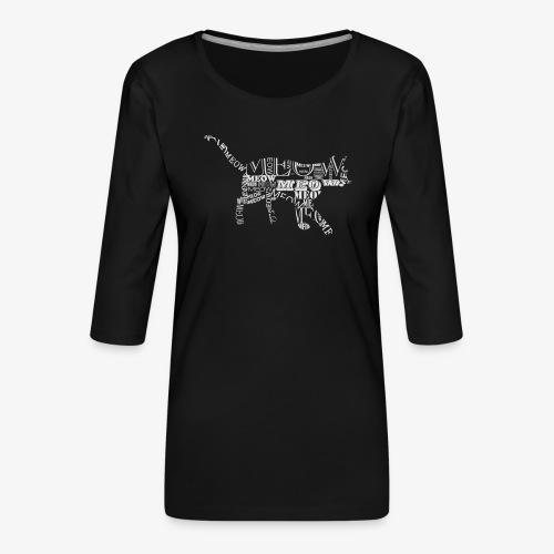 cat 6 - Koszulka damska Premium z rękawem 3/4