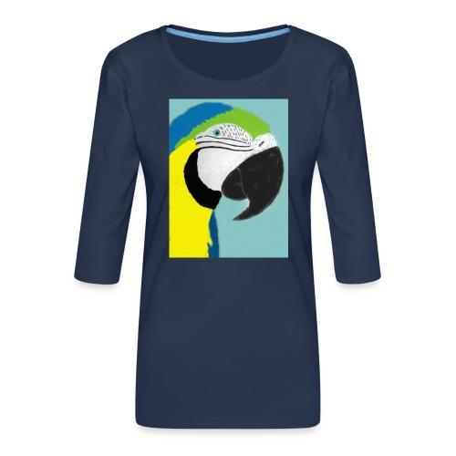 Parrot, new - Naisten premium 3/4-hihainen paita