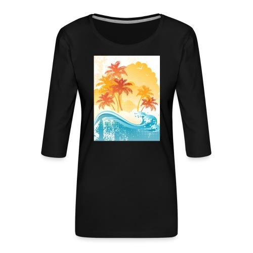 Palm Beach - Women's Premium 3/4-Sleeve T-Shirt