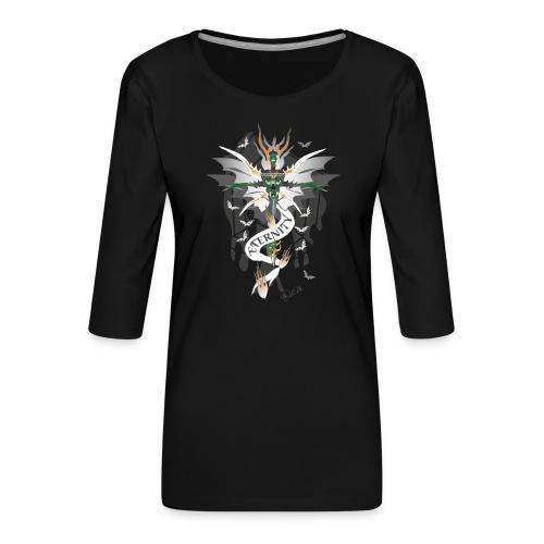 Dragon Sword - Eternity - Drachenschwert - Frauen Premium 3/4-Arm Shirt