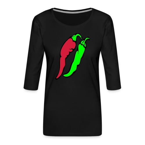 Chilli - Koszulka damska Premium z rękawem 3/4
