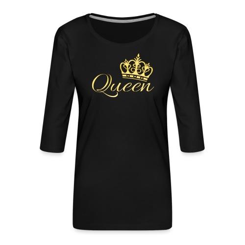 Queen Or -by- T-shirt chic et choc - T-shirt Premium manches 3/4 Femme