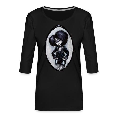 Trad Goth Art by E. R. Whittingham - Women's Premium 3/4-Sleeve T-Shirt