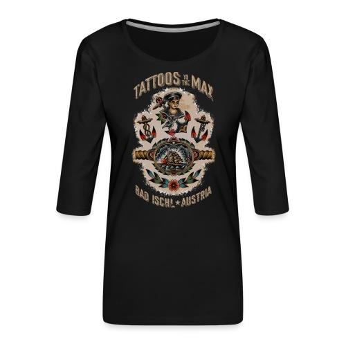 Waters Sailor Ship Matrose Tattoos to the Max - Frauen Premium 3/4-Arm Shirt