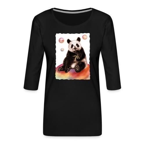 Panda World - Maglietta da donna premium con manica a 3/4