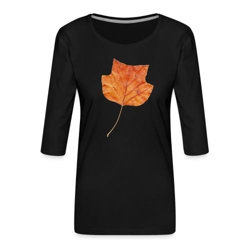 Herbst-Blatt - Frauen Premium 3/4-Arm Shirt