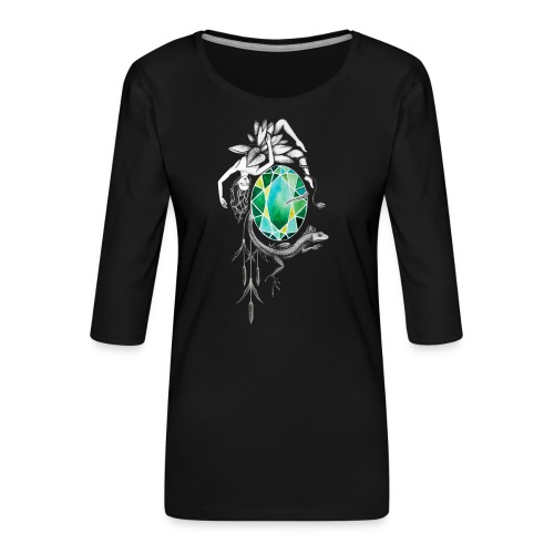 Emerald - Frauen Premium 3/4-Arm Shirt