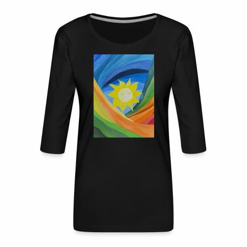 lachende-sonne - Frauen Premium 3/4-Arm Shirt