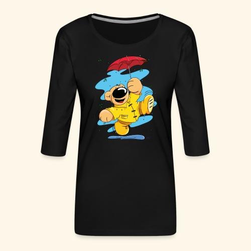 Der Bär tanzt im Regen - Frauen Premium 3/4-Arm Shirt