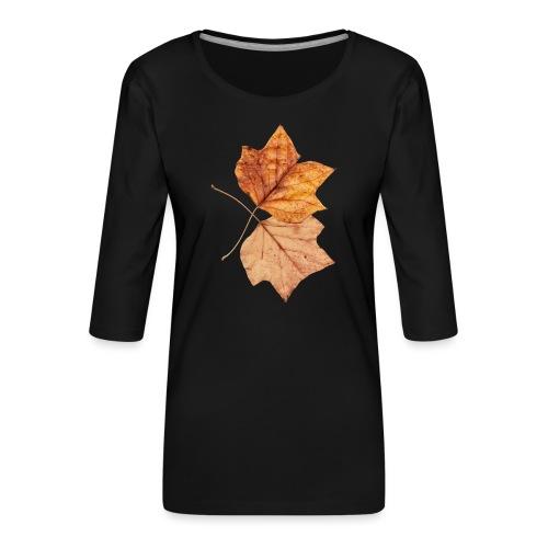 Blätter - Frauen Premium 3/4-Arm Shirt