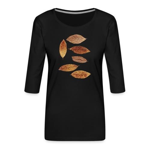 Bunte Blätter - Frauen Premium 3/4-Arm Shirt