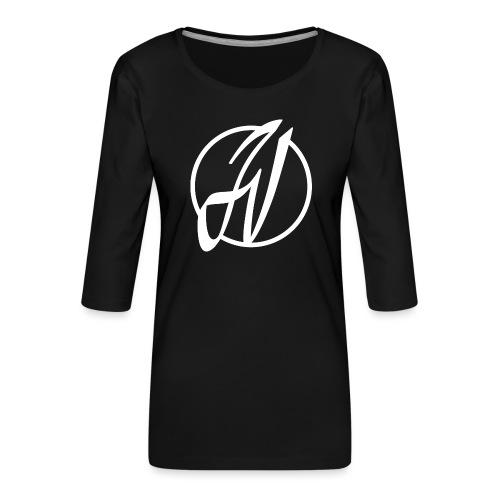 JV Guitars - logo blanc - T-shirt Premium manches 3/4 Femme