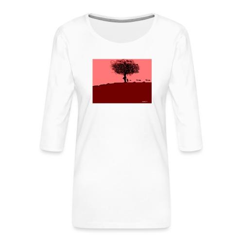albero_0001-jpg - Maglietta da donna premium con manica a 3/4