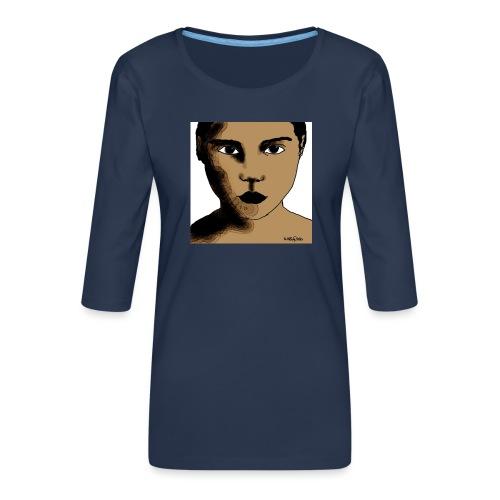 volto0001-jpg - Maglietta da donna premium con manica a 3/4