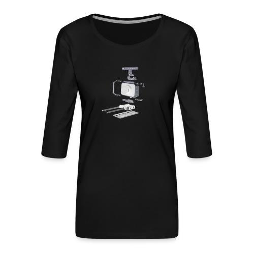 VivoDigitale t-shirt - Blackmagic - Maglietta da donna premium con manica a 3/4