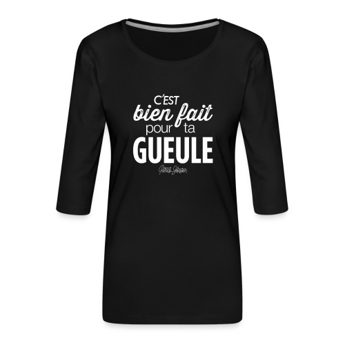 Bien fait - T-shirt Premium manches 3/4 Femme