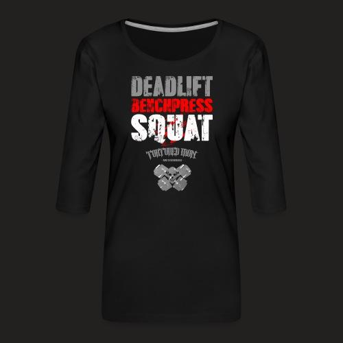 dbs rear.png - Women's Premium 3/4-Sleeve T-Shirt