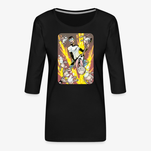 Leo Rock Bunny - Premium T-skjorte med 3/4 erme for kvinner